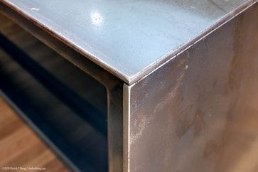Close Up Of Hot Rolled Steel Countertop 1 4 Thick Plate Steel Metal Countertops Stainless Steel Countertops Steel Design