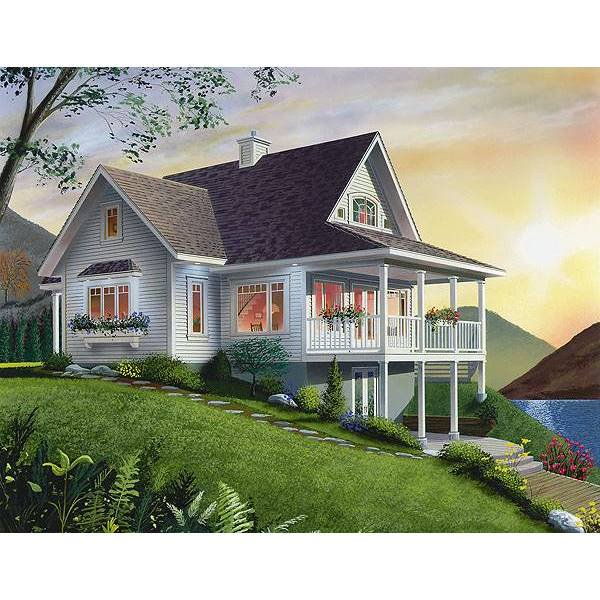 The House Designers Thd 1143 Builder Ready Blueprints To Build A Country House Plan With Walkout Basement Foundation 5 Printed Sets Walmart Com Lake House Plans Country House Plan Drummond House Plans