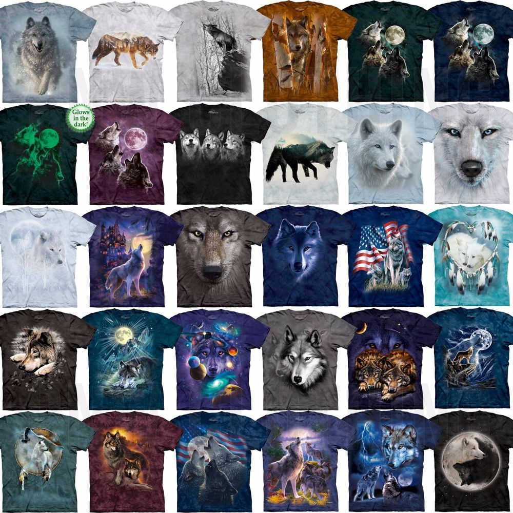 M wildlife The Watchers Wolves Tshirt S L or XL