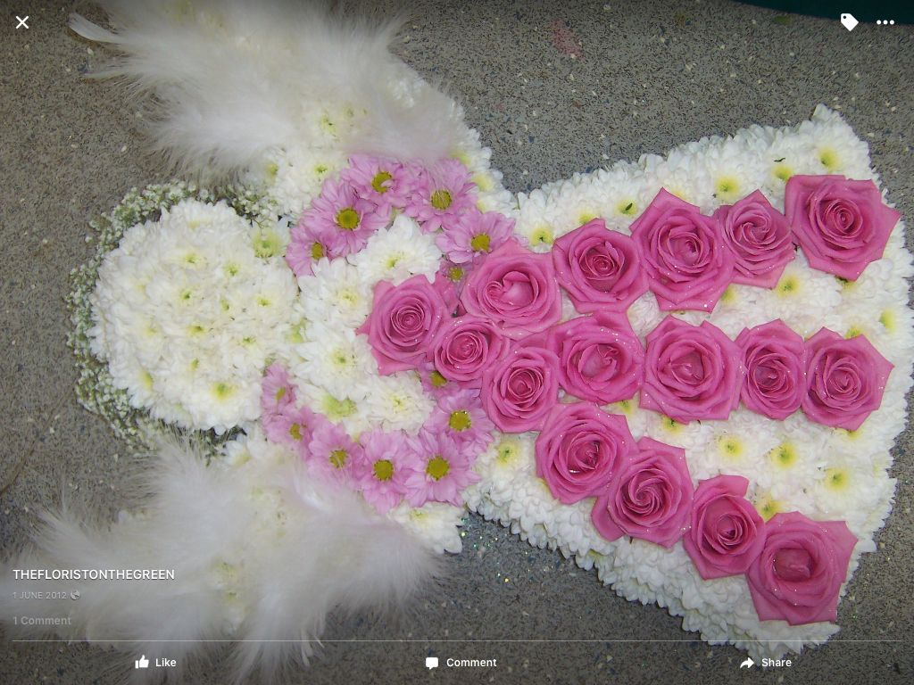 Angel funeral tribute by the florist on the green cemetary ideas angel funeral tribute by the florist on the green izmirmasajfo
