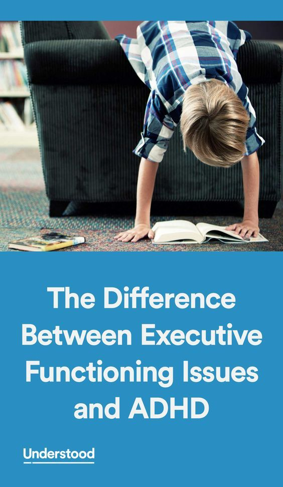 Understood founding partner Child Mind Institute explains the difference between executive functioning issues and ADHD.