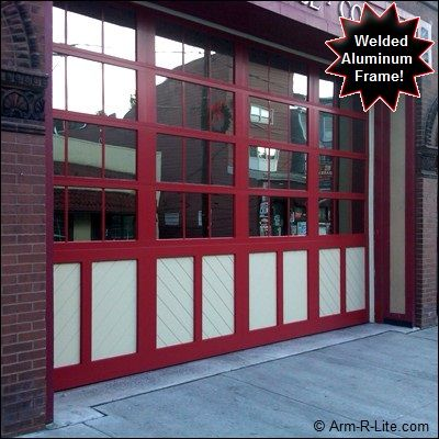 Aluminum Carriage House Style Glass Garage Door Glass