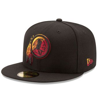 1d0466fc2b618c New Era Washington Redskins Black Color Dim 59FIFTY Fitted Hat #redskins # nfl #washington