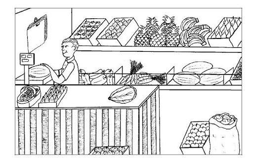 Dibujos De Comercios Para Colorear Dibujos Fruterias Y