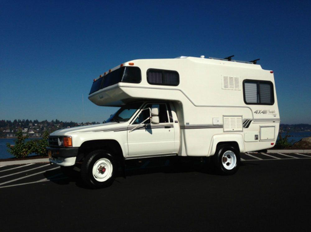 87 toyota sunraider camper towing truck bed camper