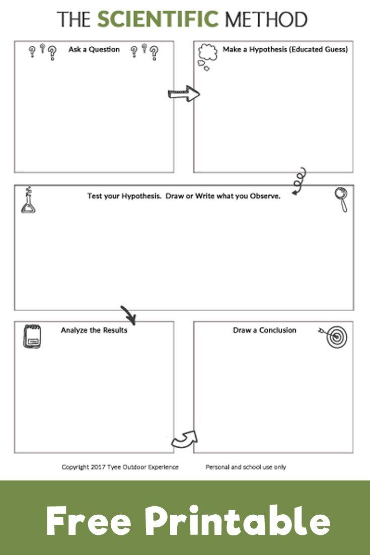 Help Kids Explore The Scienctific Method With This Free Printable Worksheet Pe Scientific Method Free Printable Scientific Method Scientific Method Printable