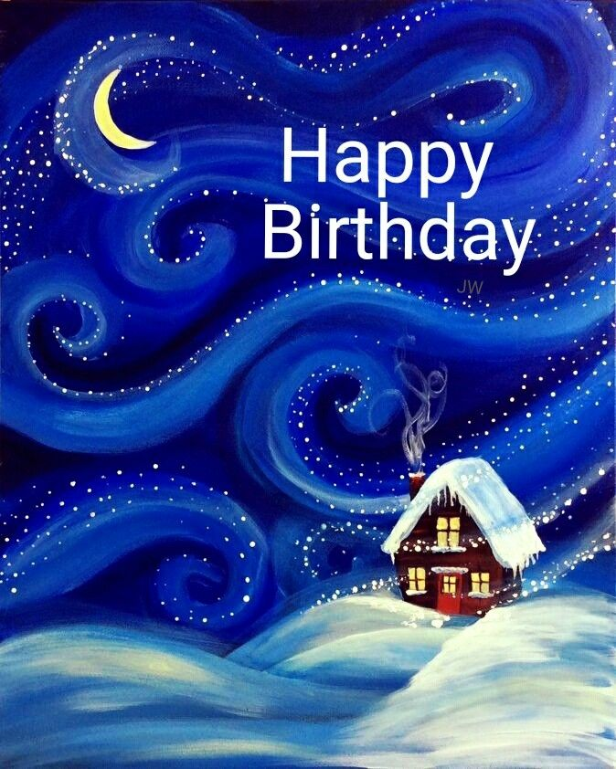 Pin By Suzanne Morris On Happy Birthday And Sayings Christmas Paintings Christmas Paintings On Canvas Winter Painting