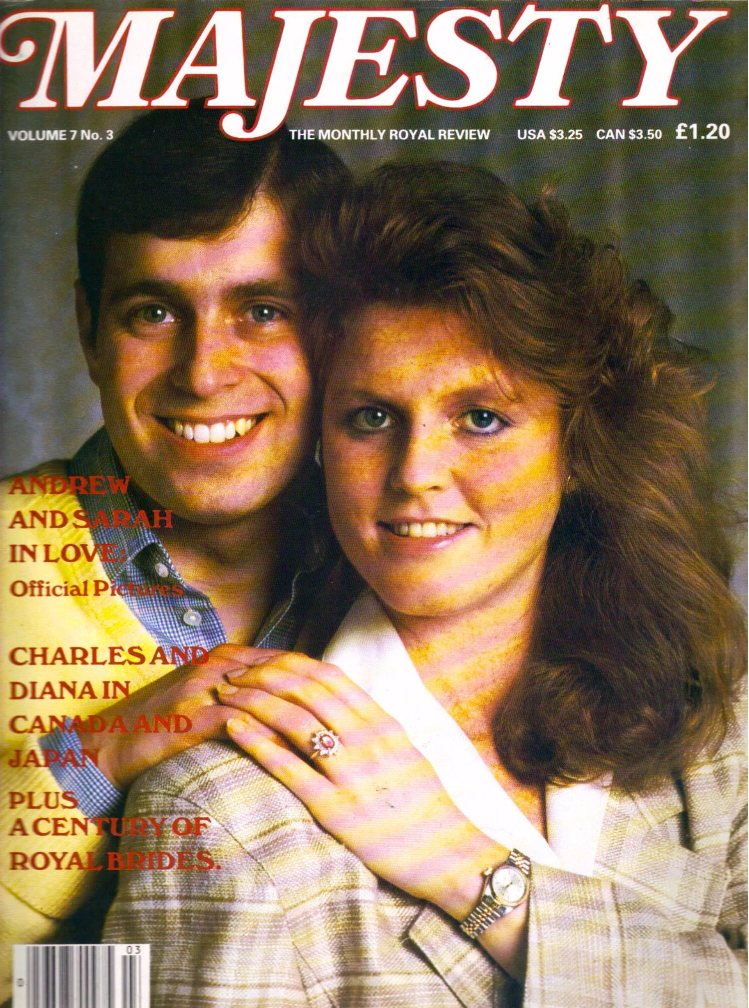 Sarah Ferguson & Andrew - July 1986 Majesty