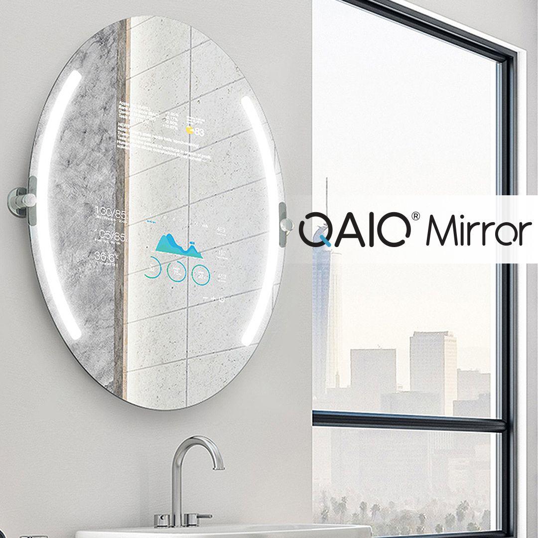 Qaio Oval Smart Mirror Smart Mirror Smart Bathroom Mirror [ 1080 x 1080 Pixel ]