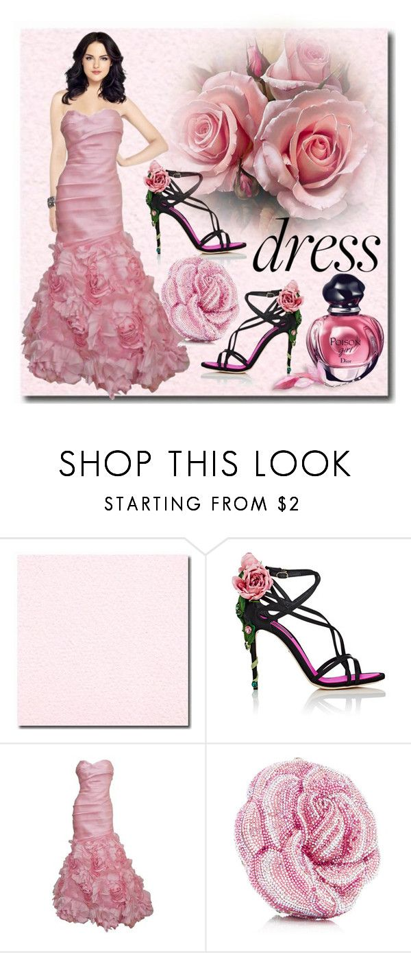 """Dreamy Dress"" by riagr ❤ liked on Polyvore featuring Dolce&Gabbana, Monique Lhuillier, Christian Dior and vintage"