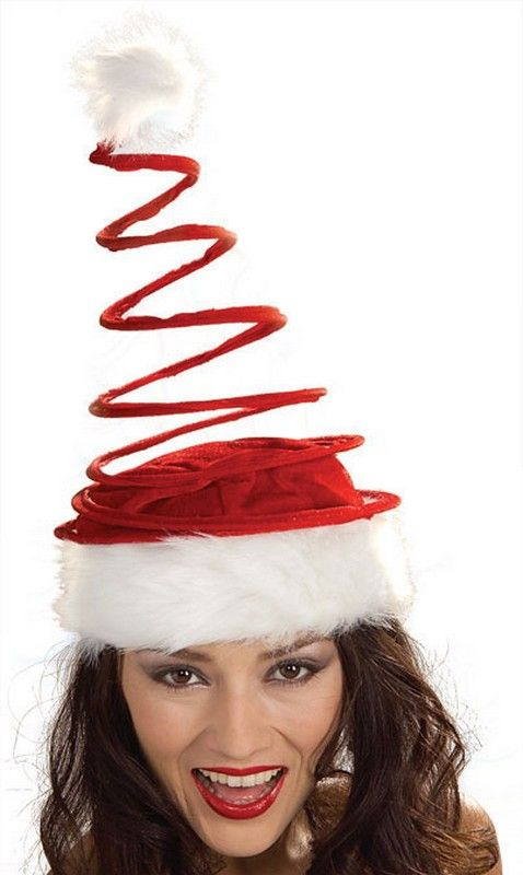 5d4ccd84b9d48 Christmas Hats Coil Santa Hat  3.81 Red holiday hat with furry white trim.  Celebrate the