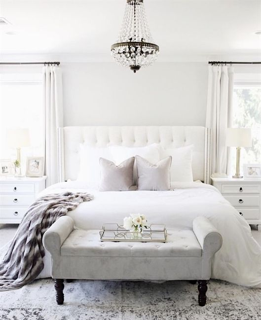 Gorgeous White Bedroom White Bedroom Design Home Decor Bedroom Bedroom Interior