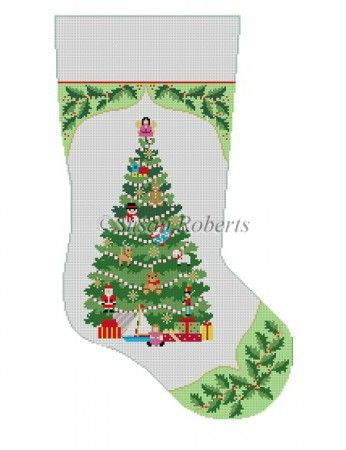 Stocking Holly With Toy Tree Insert Stockings Pinterest