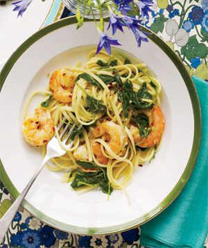 Linguine with Spicy Shrimp | Fancy Fork [RECIPE]