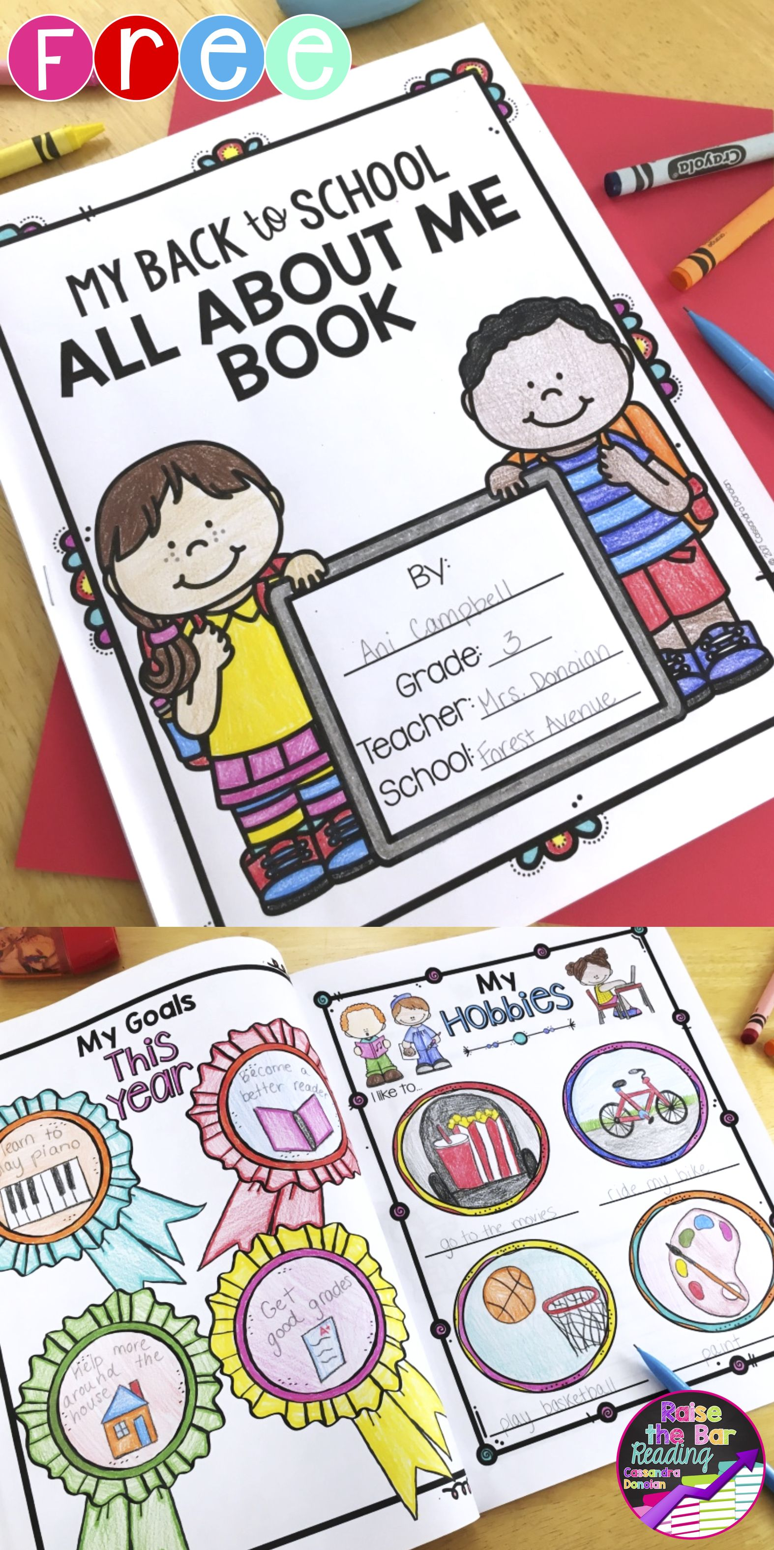 Free Back To School All About Me Book