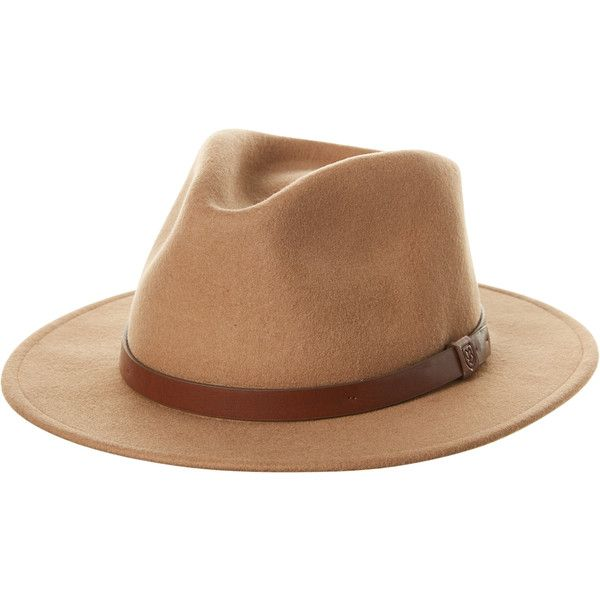b71465b9346ab6 Brixton Messer Fedora Hat Brown ($61) ❤ liked on Polyvore featuring men's  fashion, men's accessories, men's hats, accessories, brown, headwear, men,  mens ...