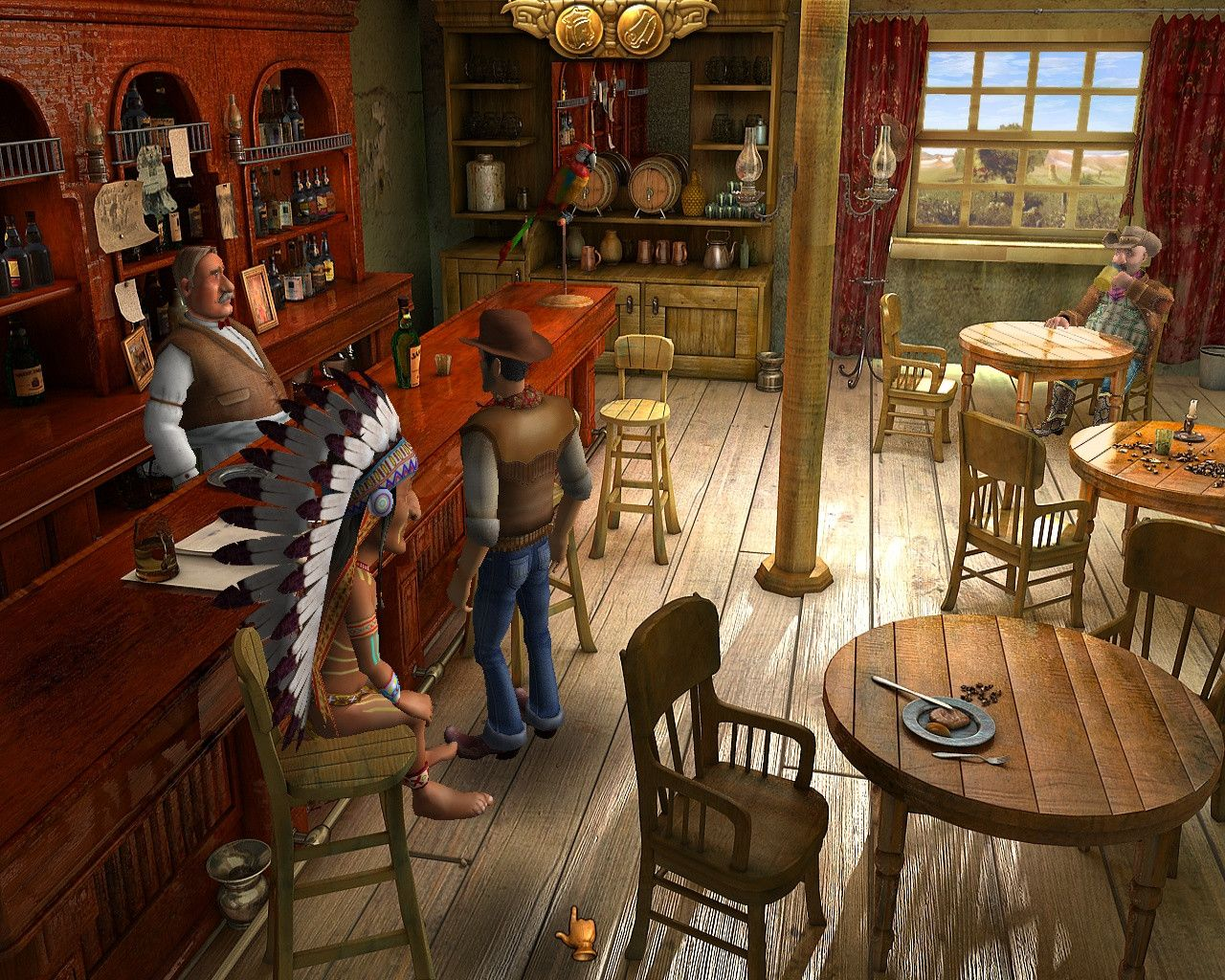 Its A Point And Click Western Adventure Game Of Some Sort Description From Gaming Stackexchange Com I Searched For This On Bi Western Saloon Saloon Wild West