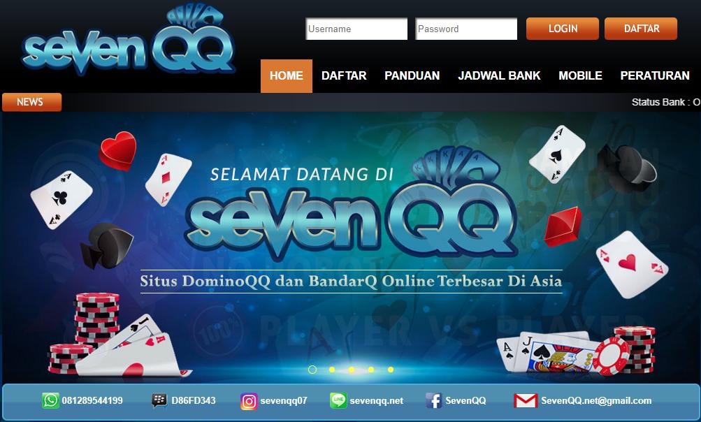 Sevenqq Info Situs Bandarq Terpercaya Poker Online Domino99 Bandarq Qqonline Bandar Sakong Pandora Screenshot