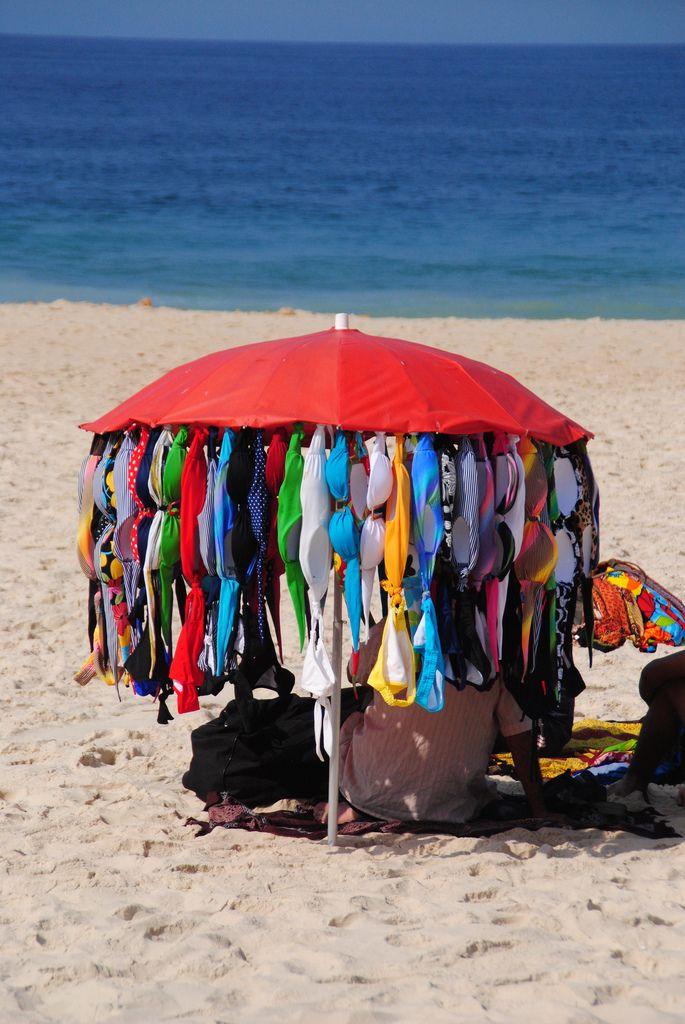 Beach Vendor in Rio de Janeiro Brazil