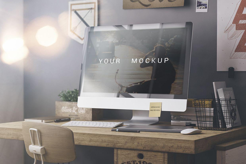 Free iMac Desktop Mockup | Pinterest | Bibliotecas