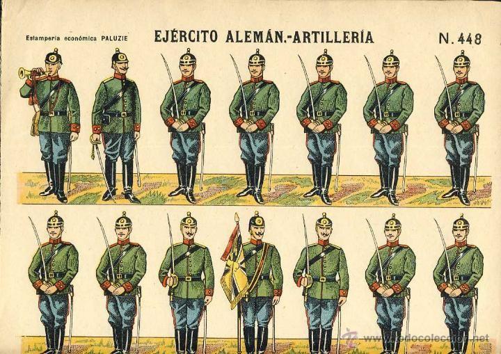 Recortable de soldados: EJERCITO ALEMAN, ARTILLERIA (Ed.Paluzie num. 448) - Foto 1