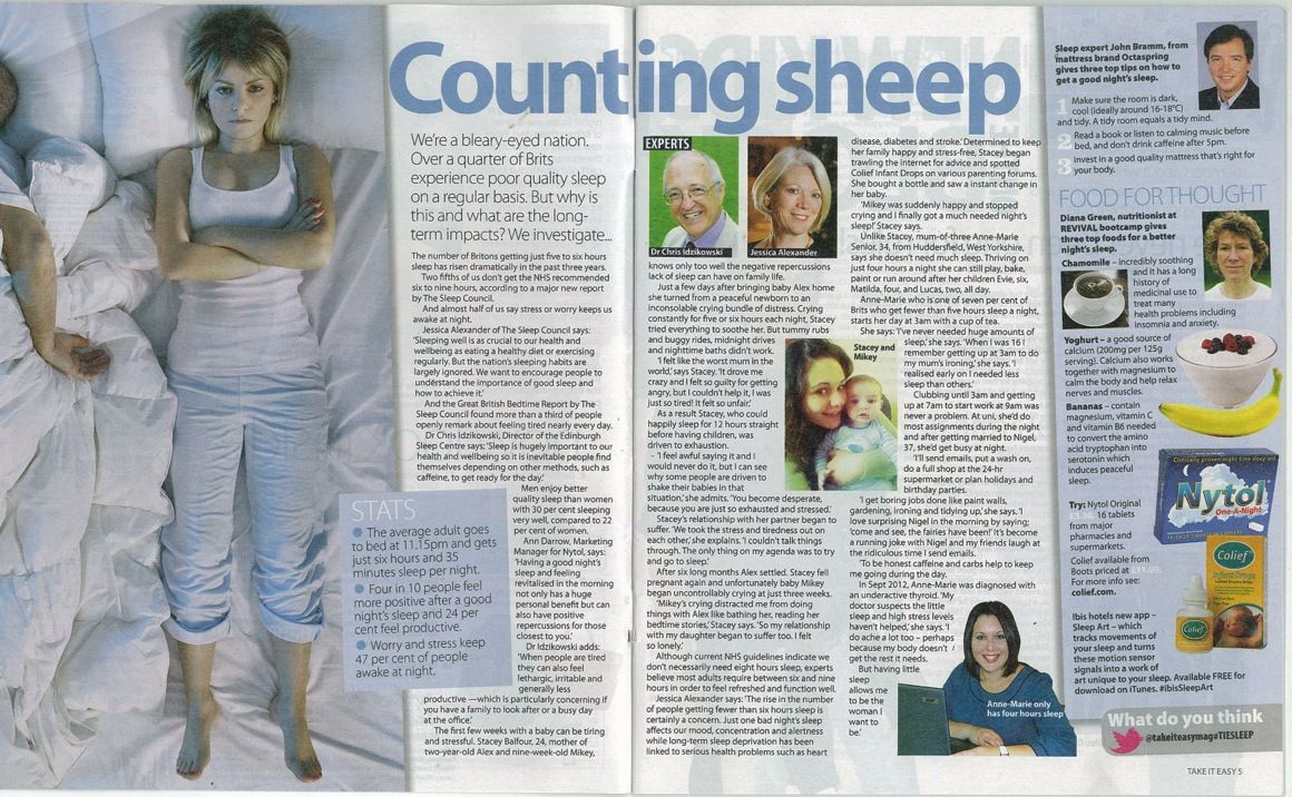 Essential Sleep Tips from Octaspring's John Bramm featured in Take It Easy magazine.  http://octaspring.co.uk