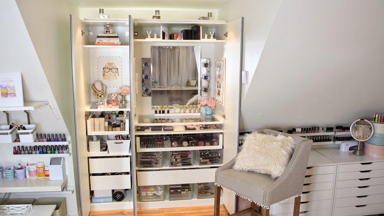 Dose Of Lisa Pullano My Makeup Tour Storage Ideas