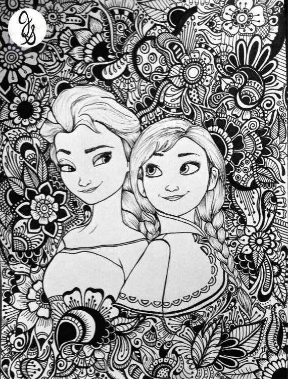Diseño congelado | Mandalas | Coloring pages, Adult coloring pages y ...