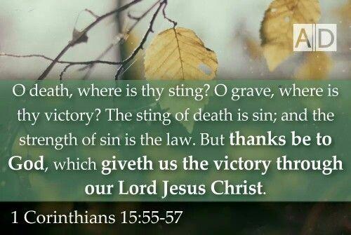 Image result for King James version I Corinthians 15:55.to.58