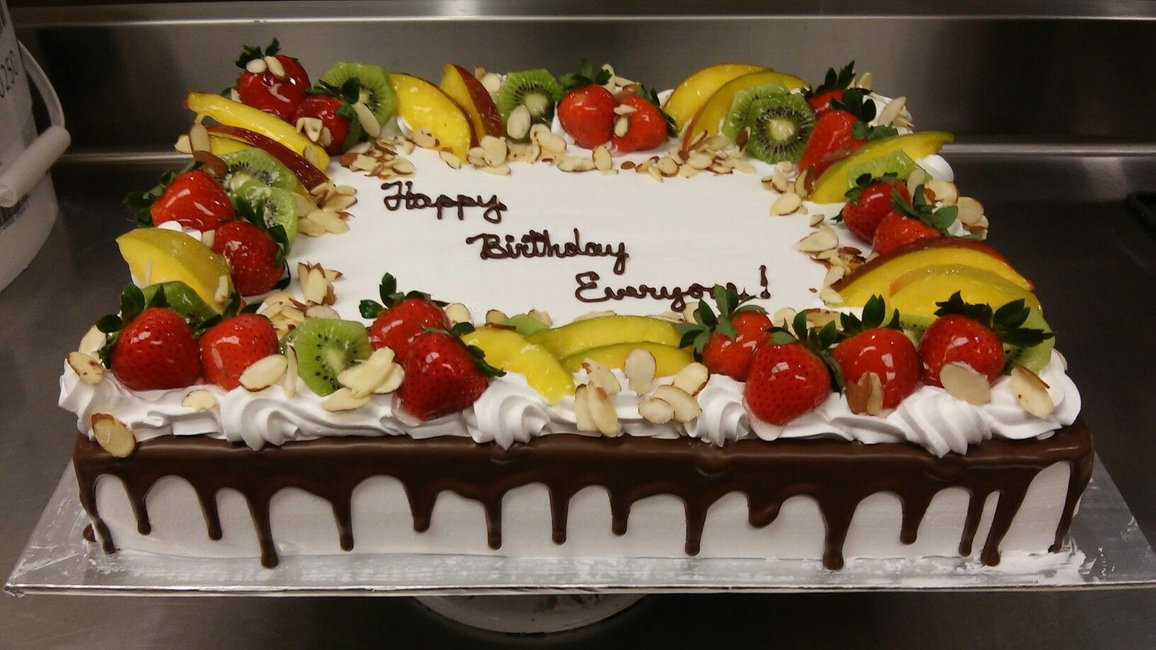 Fruit Topped Tres Leche Sheet Cake