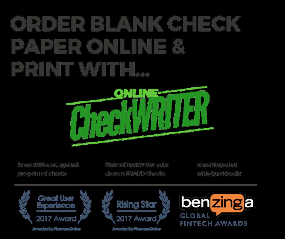 deluxe checks vs blank check paper