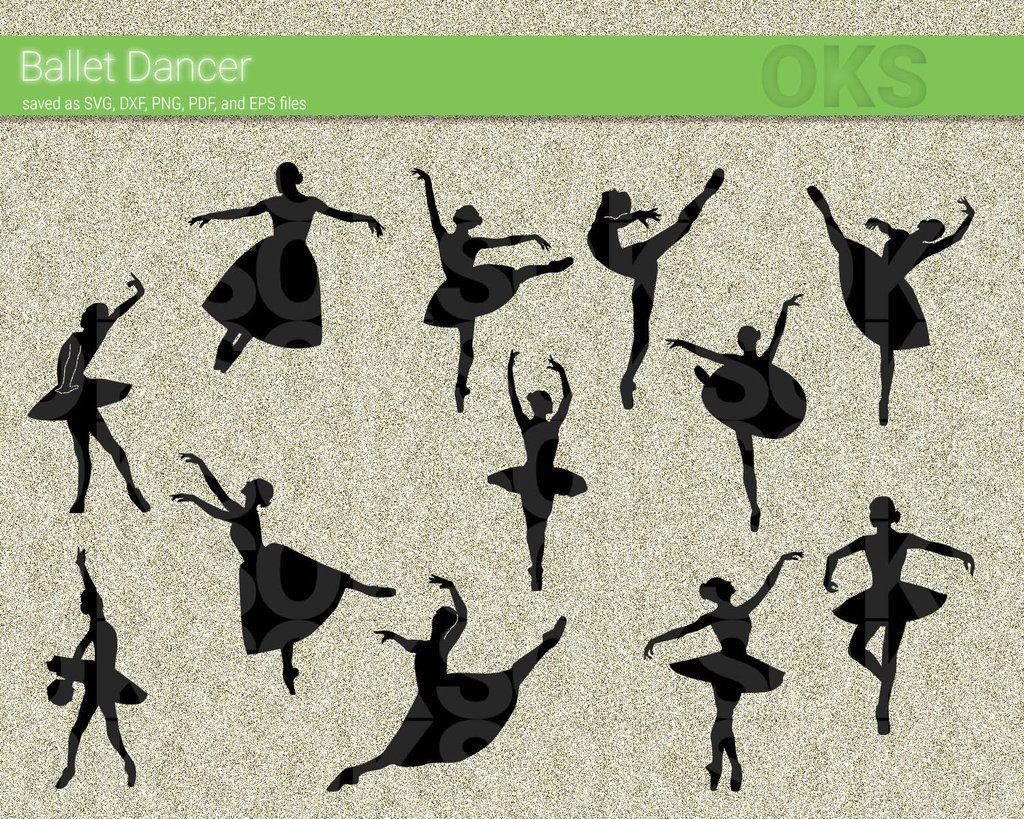 Ballet Dancer Svg Dxf Vector Eps Clipart Cricut Download Svg Clip Art Dxf