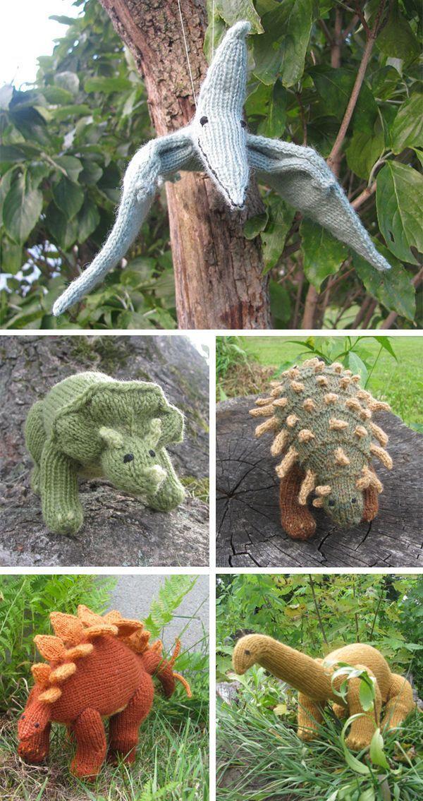 Patron de tricot pour jouets dinosaures – Patron de tricot pour ptérodactyle, trice …   – Knitting for kids
