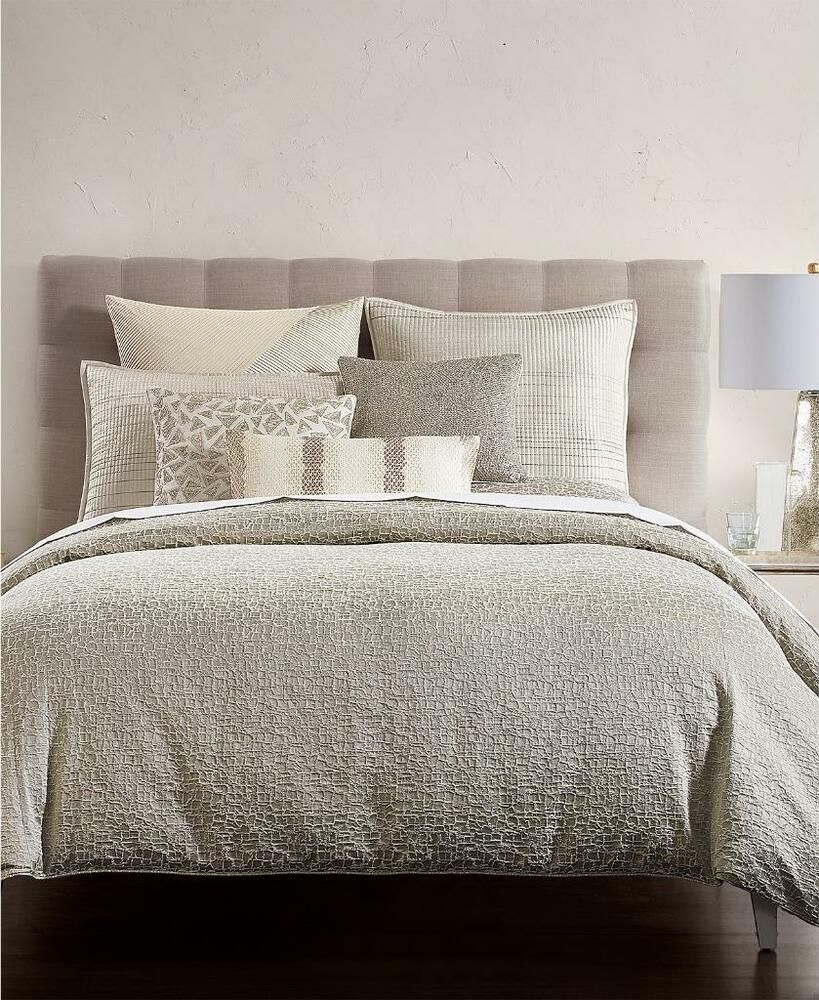 Hotel Collection Birch Reversible Silver King Duvet Cover