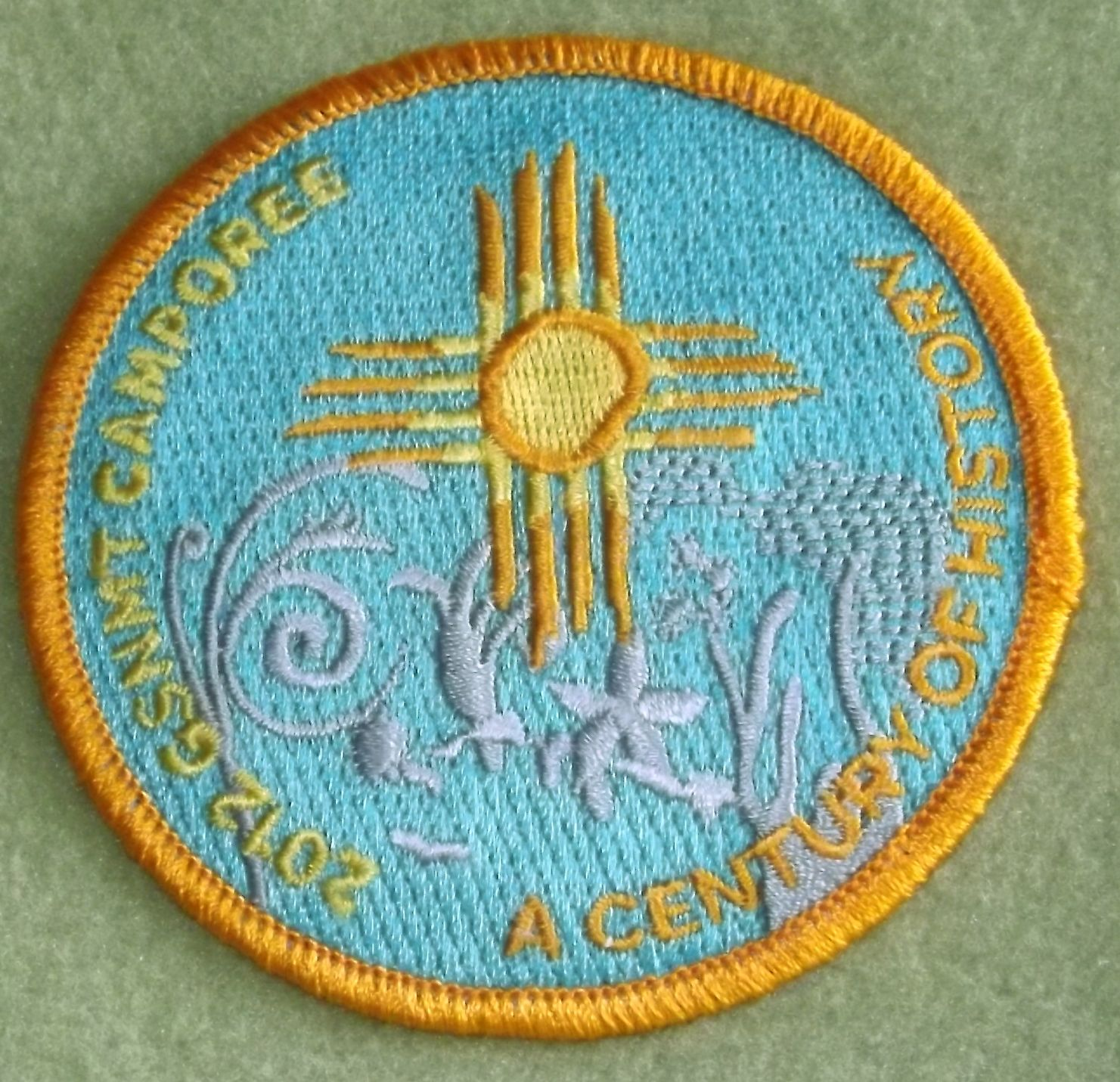 Girl Scouts New Mexico Trails 100th anniversary patch. Century of History