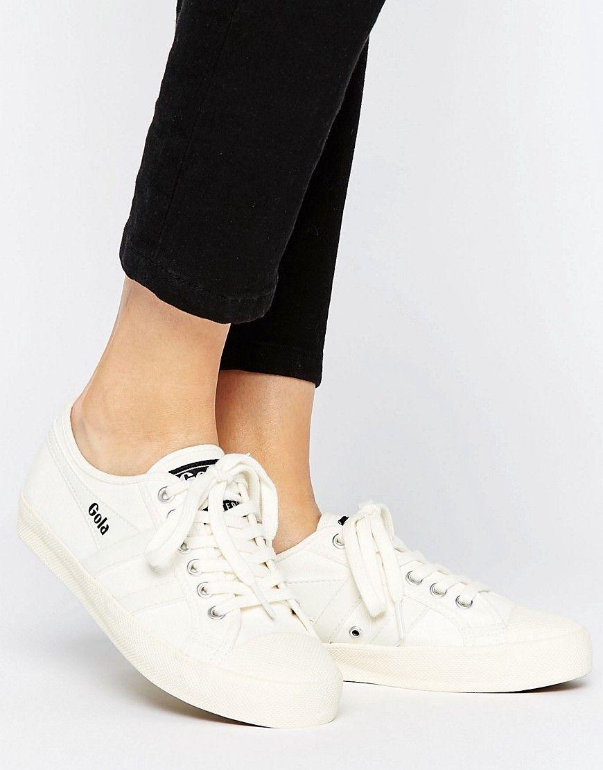 WHITE SNEAKERS - WHITE. #gola #shoes