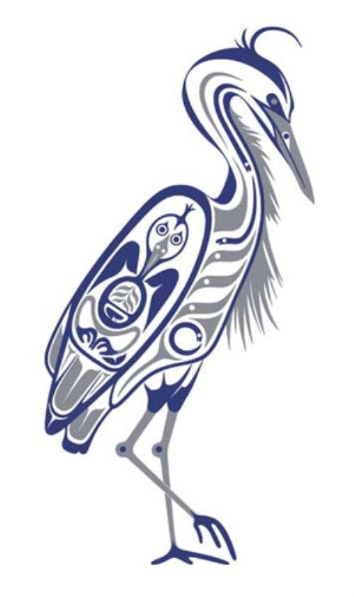 Native American Luck Symbols Heron 500 X 843 Native Americans