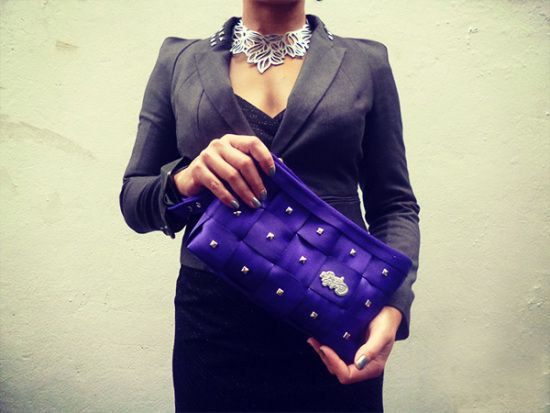 30cab086b8 Purple Stud Love Clutch - by Her Royal Flyness ( 79AUD)