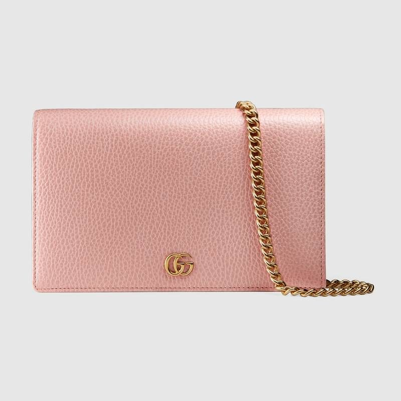 3bc107ecbb79 GG Marmont leather mini chain bag in Light pink leather