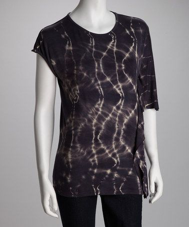 Take a look at this Lizzie Parker Plum Live Wire Gypsy Road Tie-Dye Top by Lizzie Parker, Ebene & Nina Leonard on #zulily today!