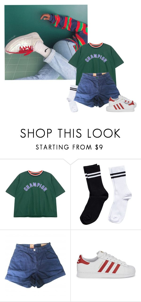 """""""Today I don't feel like doing anything."""" by cupcake-soo ❤ liked on Polyvore featuring Chicnova Fashion, Pieces, Levi's Made & Crafted and adidas Originals"""