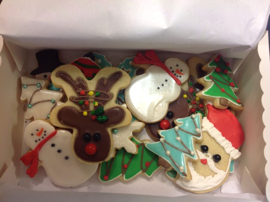 Christmas Cookies with glaze icing.