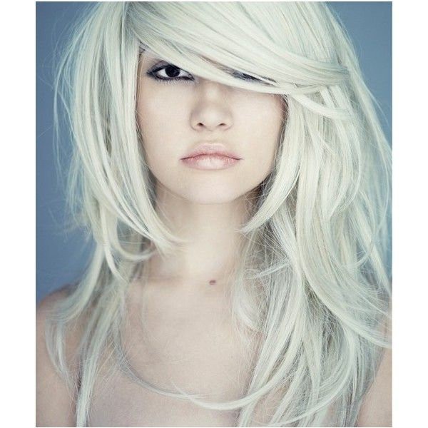 Beauty At Its Finest / white hair, black eyes found on Polyvore