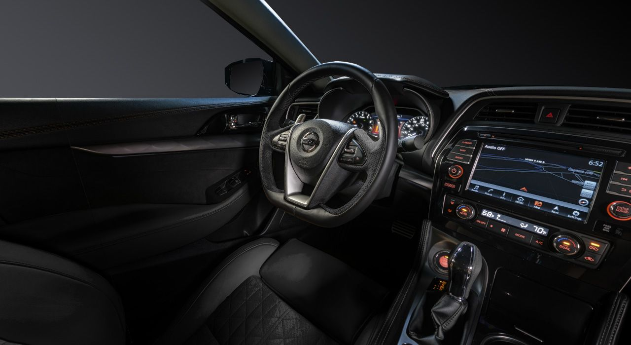 Nissan nissan maxima 2015 interior : 2016 Nissan Maxima black leather interior and dash | A | Pinterest ...