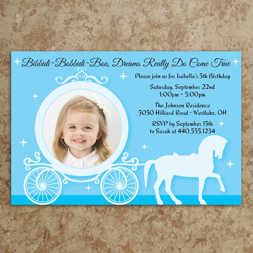 cinderella invitation diy printable jpeg file cinderella