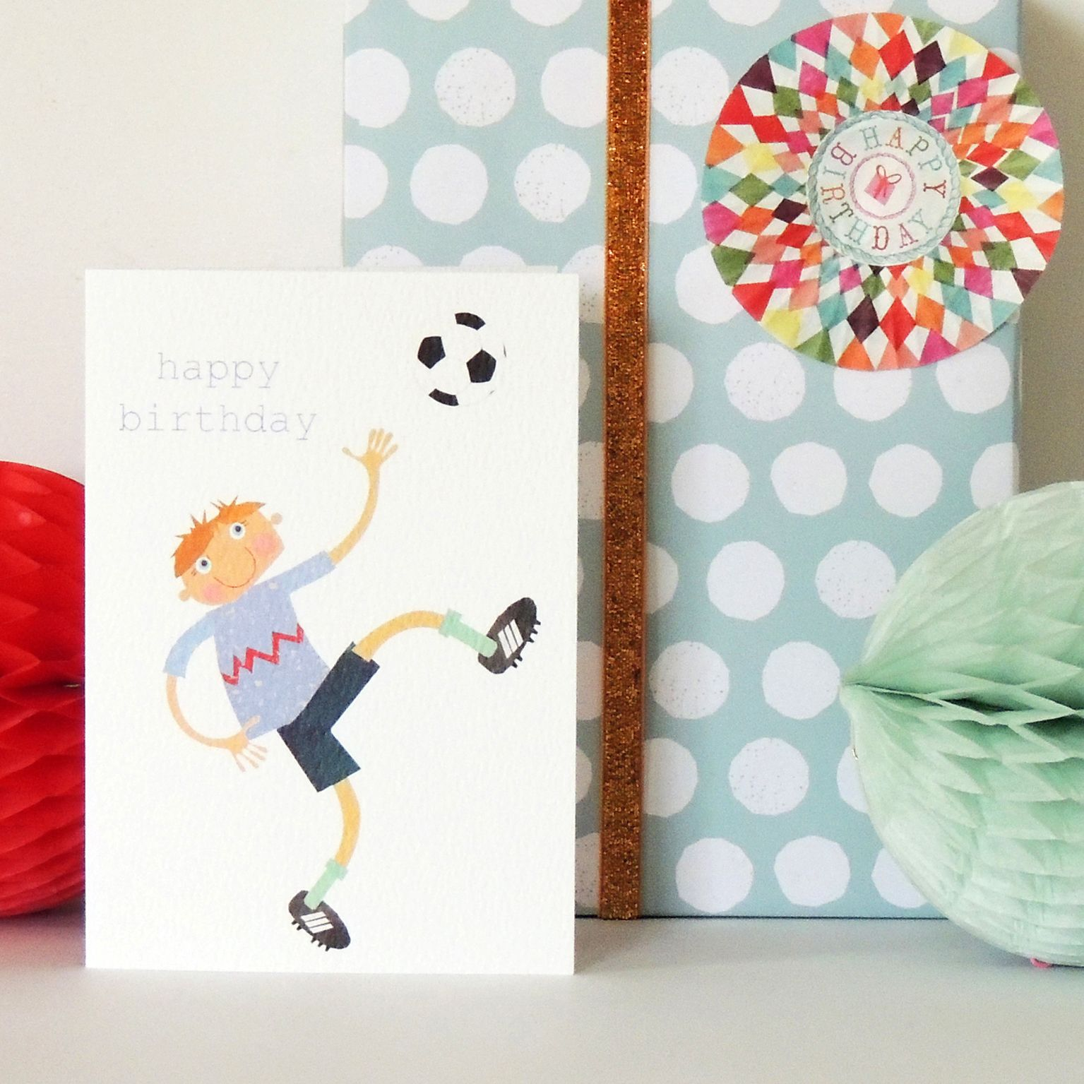 Football Birthday Card In