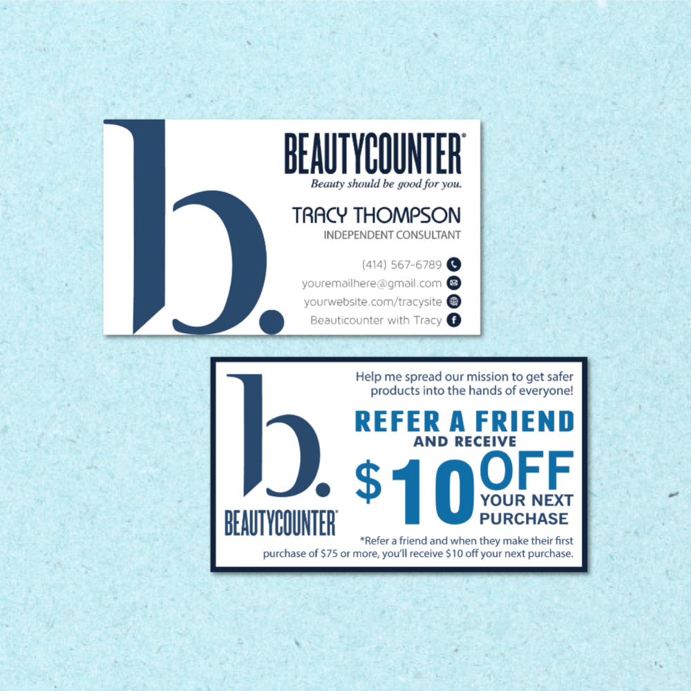 Beautycounter Business Card Personalized Beautycounter Business Cards Referral Beautycounter Card Bc36 Beautycounter Business Beautycounter Gold Business Card
