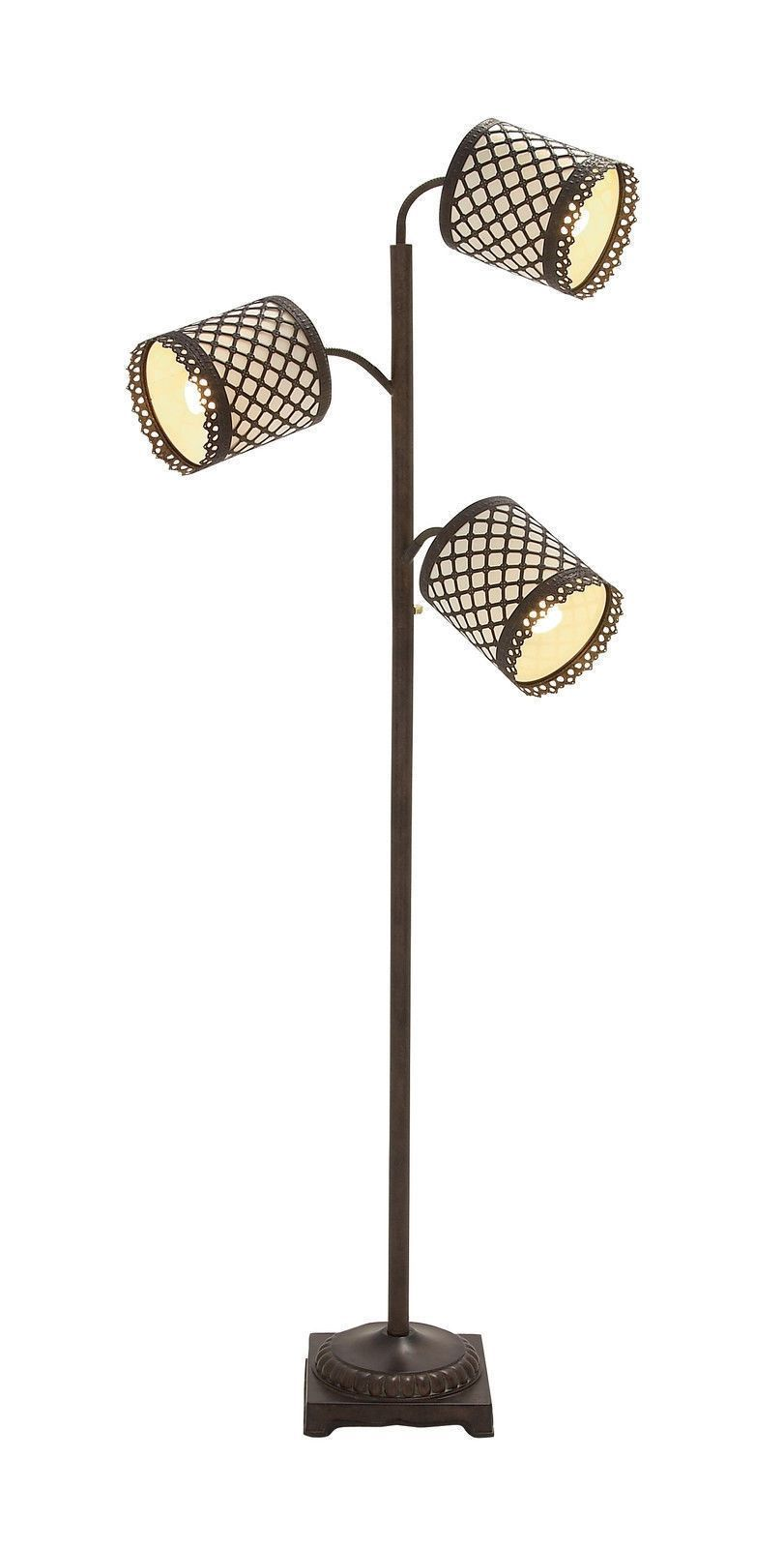 """Elegant French Style 3 Adjustable Arm 70"""" Tall Standing Hollywood Floor Lamp"""