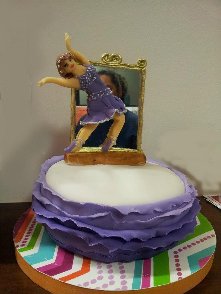 Modern dance Dancer ruffle cake | Ruffle cake, Cake ...