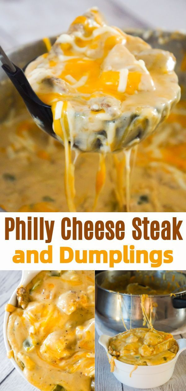 Philly Cheese Steak and Dumplings - This is Not Diet Food